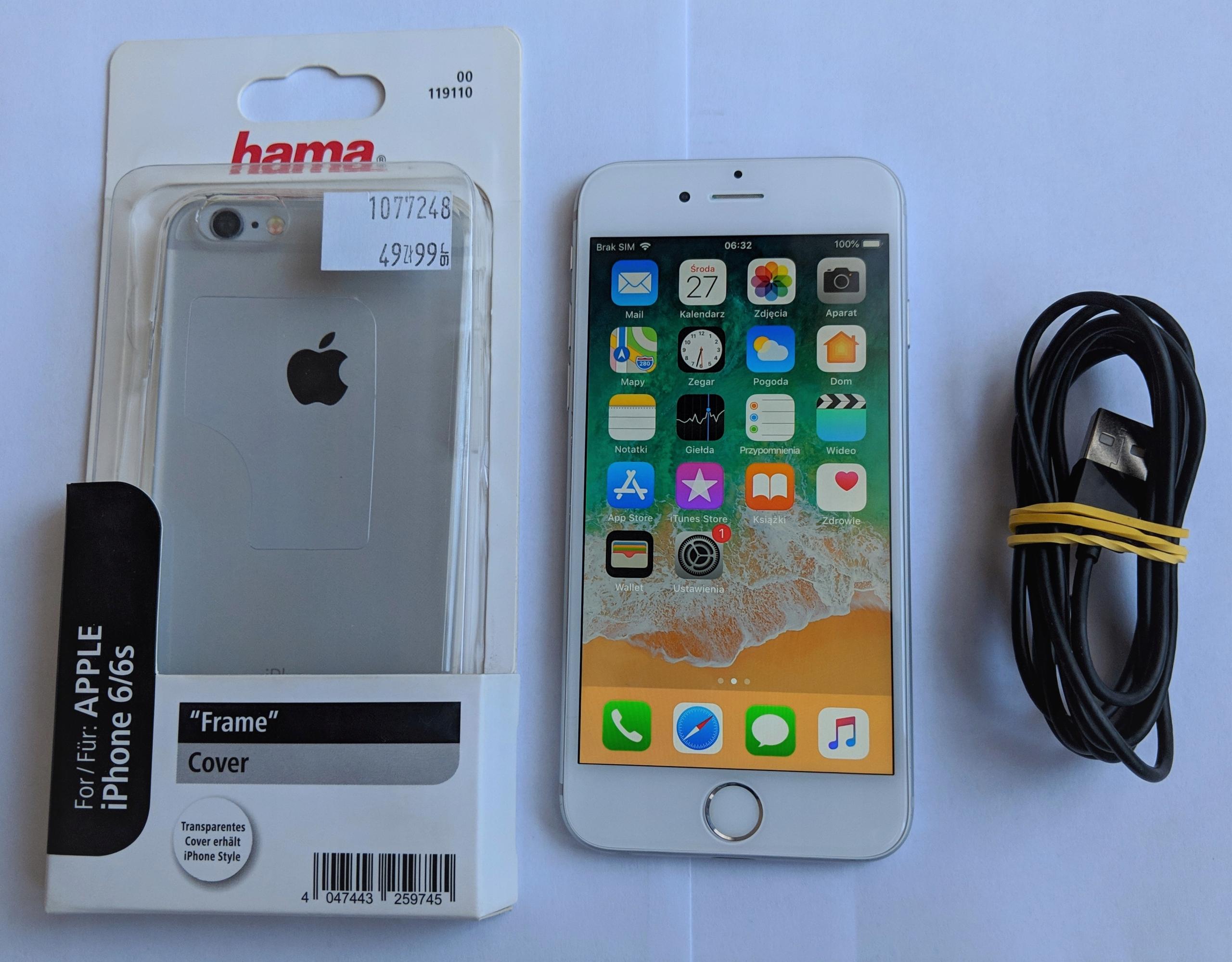 iPhone 6 16GB Silver Apple A1586 Sprawny OKAZJA