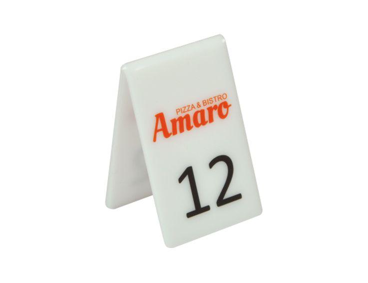 Numery Na Stoliki Do Restauracji Nadruk Uv 10 Szt