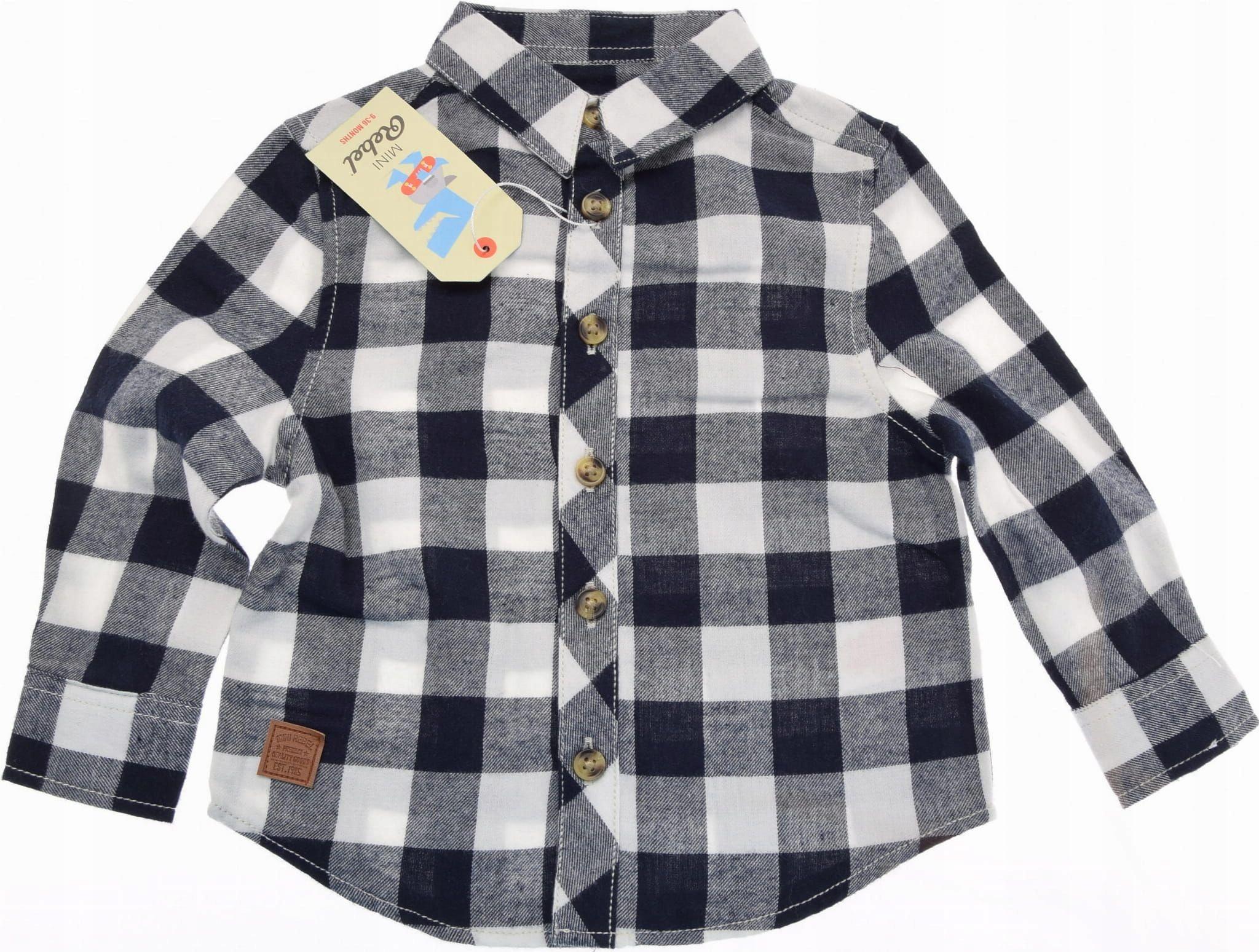 REBEL koszula chłopięca Flanelowa w Kratę 86 nowa