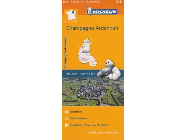 Michelin Champagne-Ardennen mapa samochodowa
