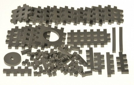 PIANKOWE PUZZLE SENSORYCZNE 115EL. grafit premium