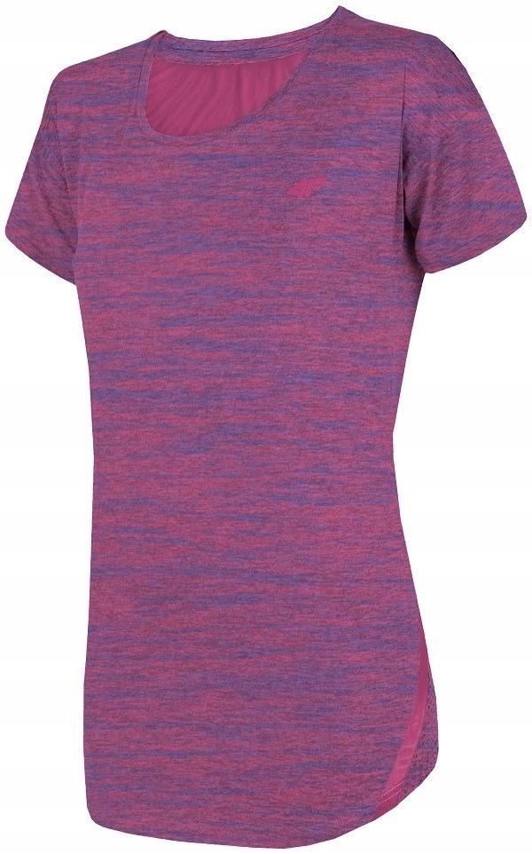 Koszulka fitness 4F H4L19 TSDF004 róż melanż # S