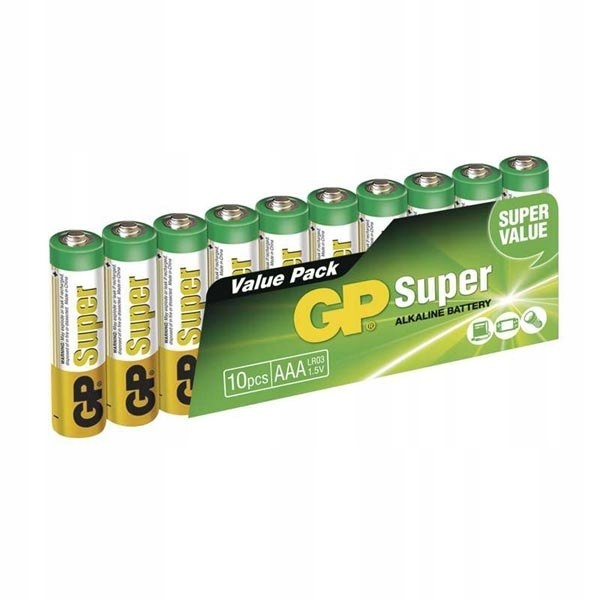 Baterie alkaliczna, AAA, 1.5V, GP, blistr, 10-pack