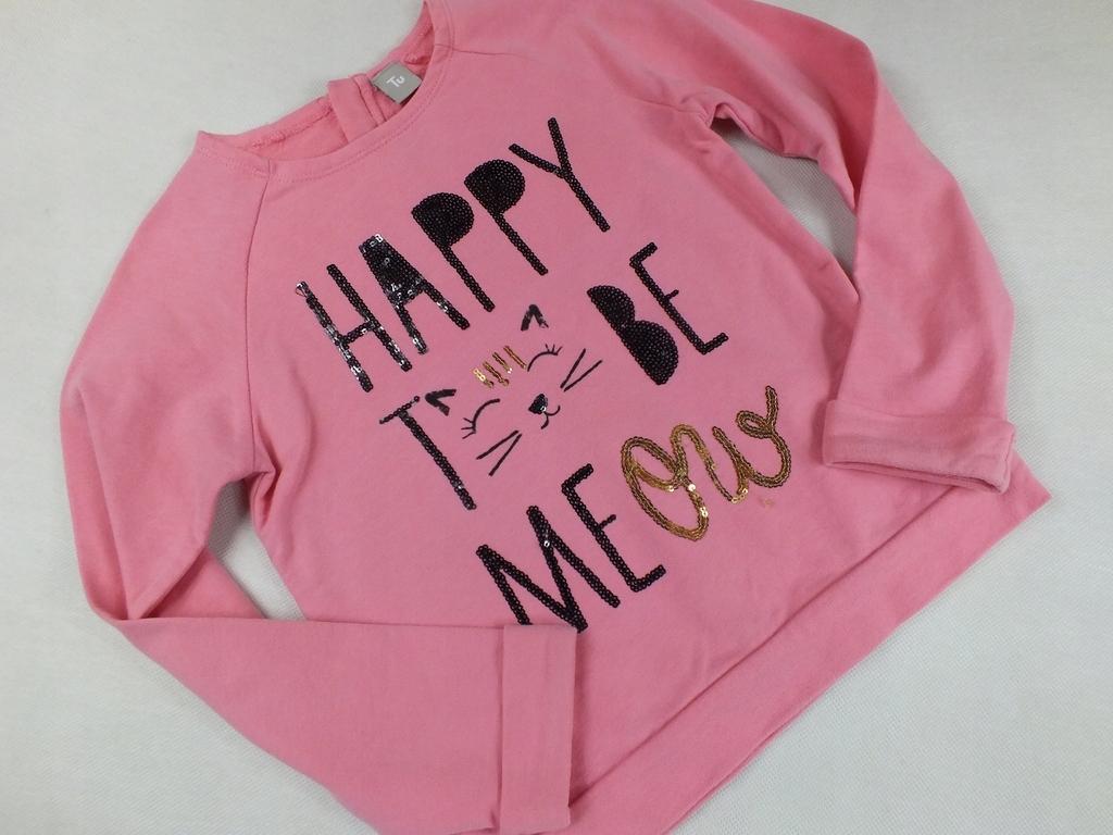 TU różowa bluza napis kotek ZIP 116