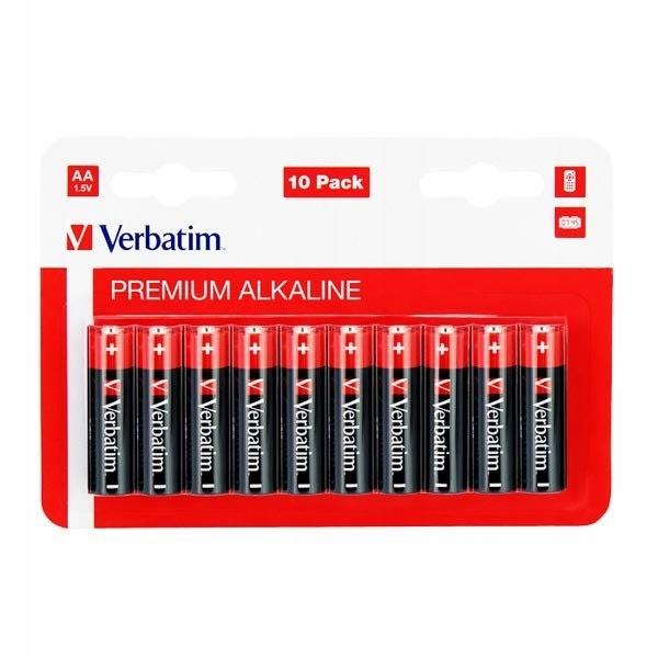 Bateria alkaliczna, AA, 1.5V, Verbatim, blistr, 10