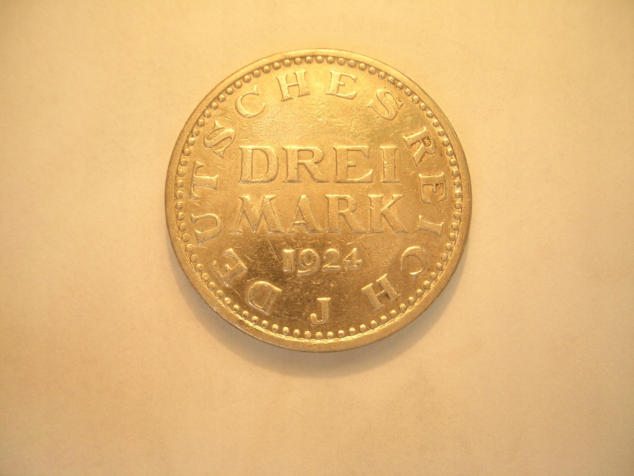 3 Marki 1924 J-Mennica Hamburg,stan 2+