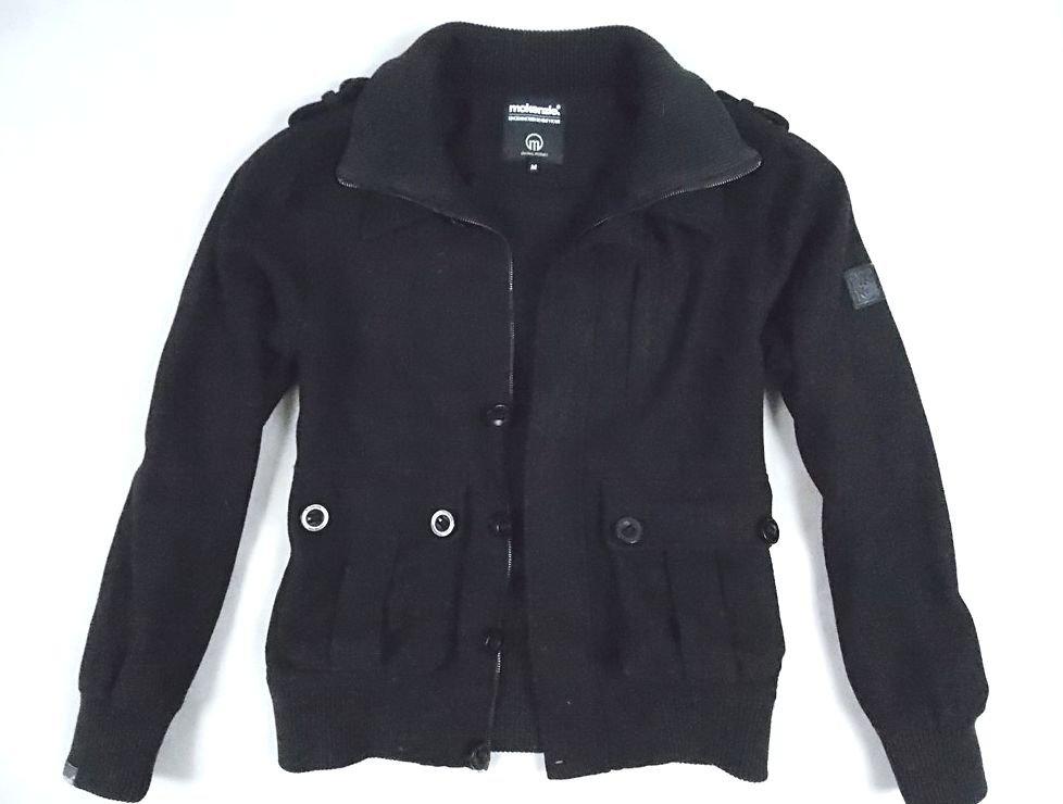 MACKENZIE_fajna klubowa kurtka wełniana zip_M