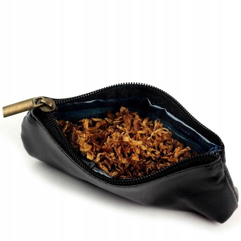 etui na tytoń susz zioła eleganckie skórzane
