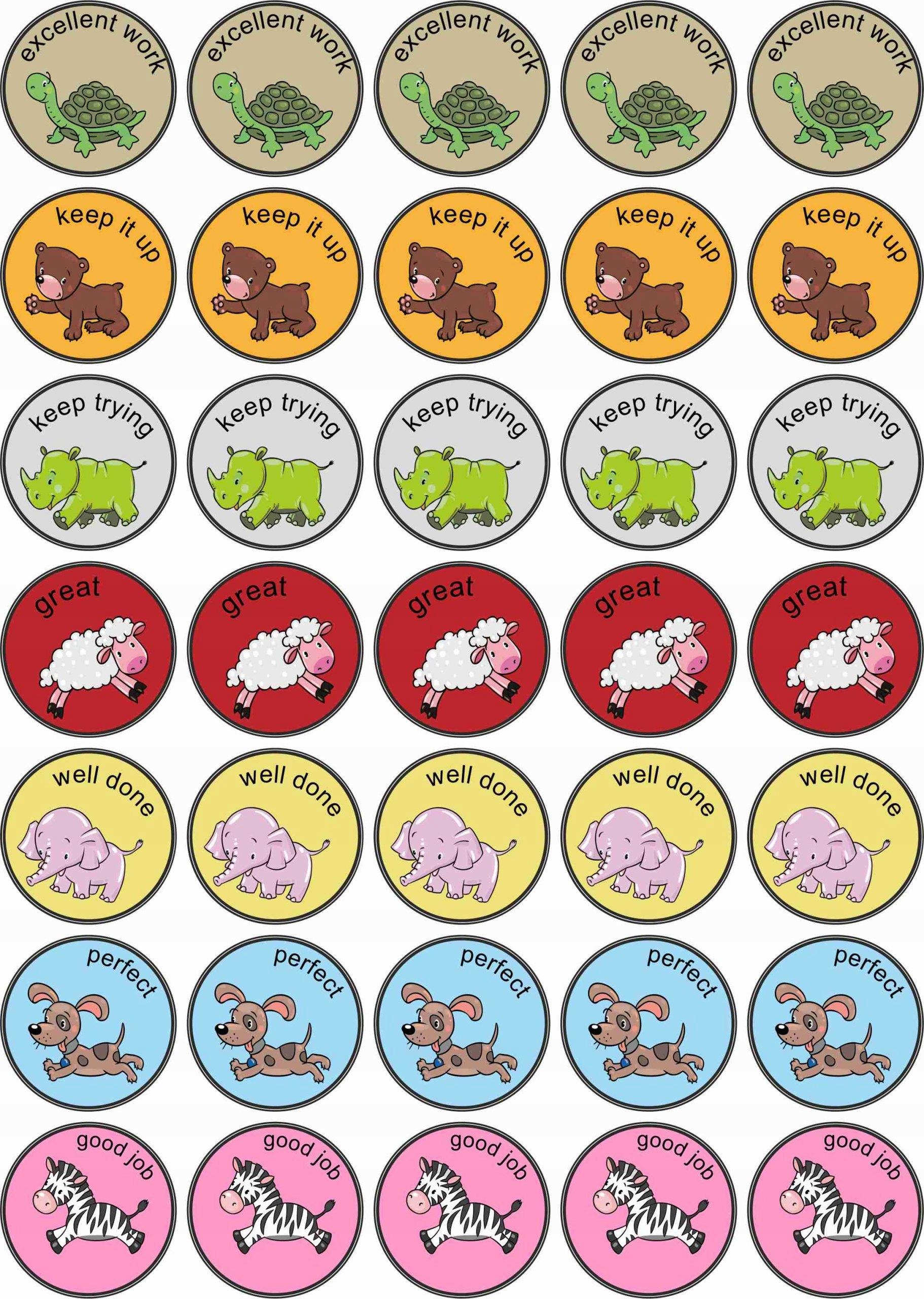 Naklejki Motywacyjne Nagrody Jezyk Angielski Zoo 7558102047