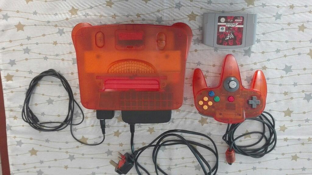 limitowana konsola Orange Nintendo 64 Japan