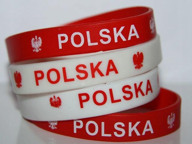 Bransoletka silikonowa Polska orzeł flaga opaska