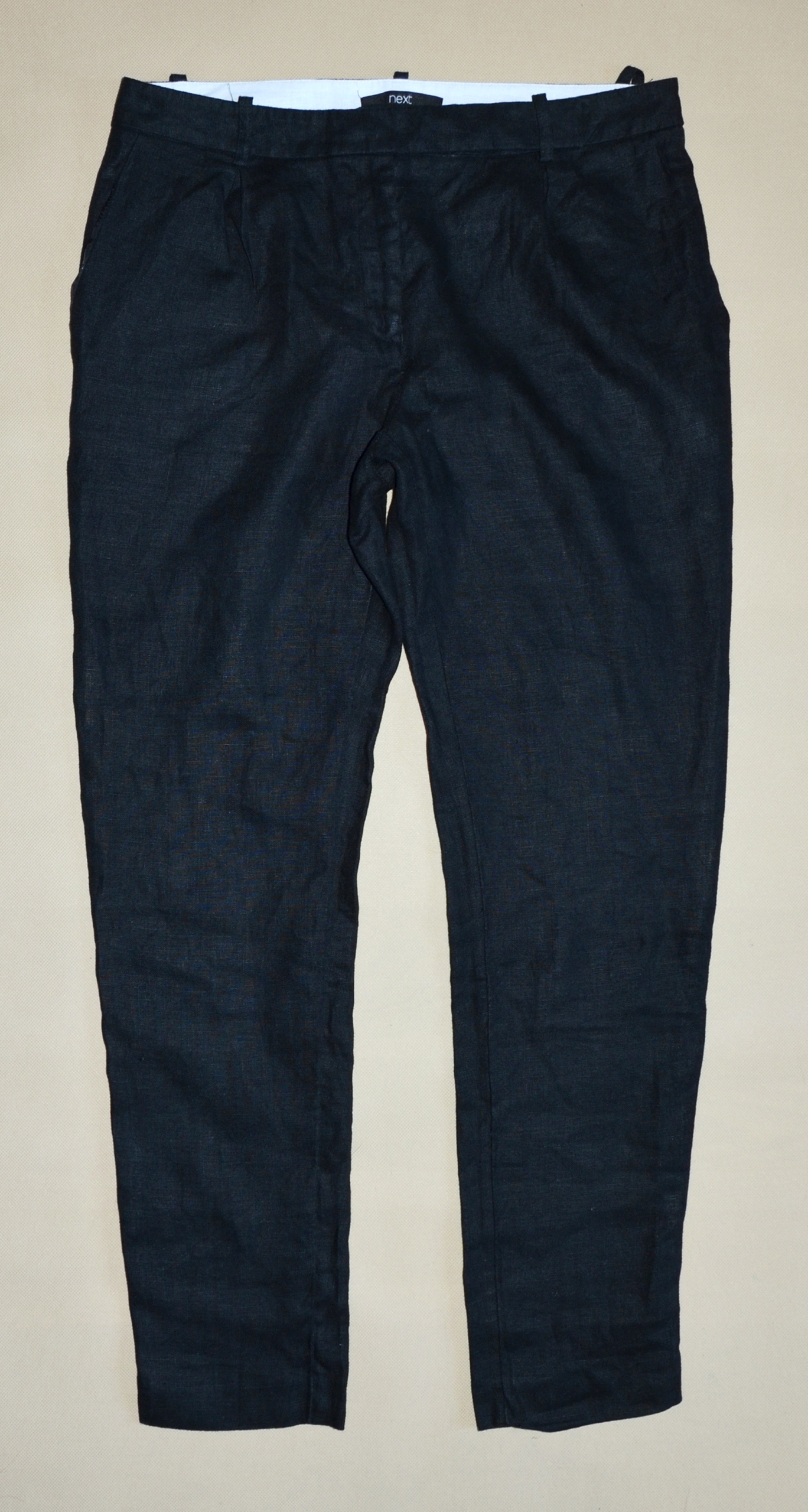 NEXT _ Lniane letnie spodnie cygaretki rozmiar 38