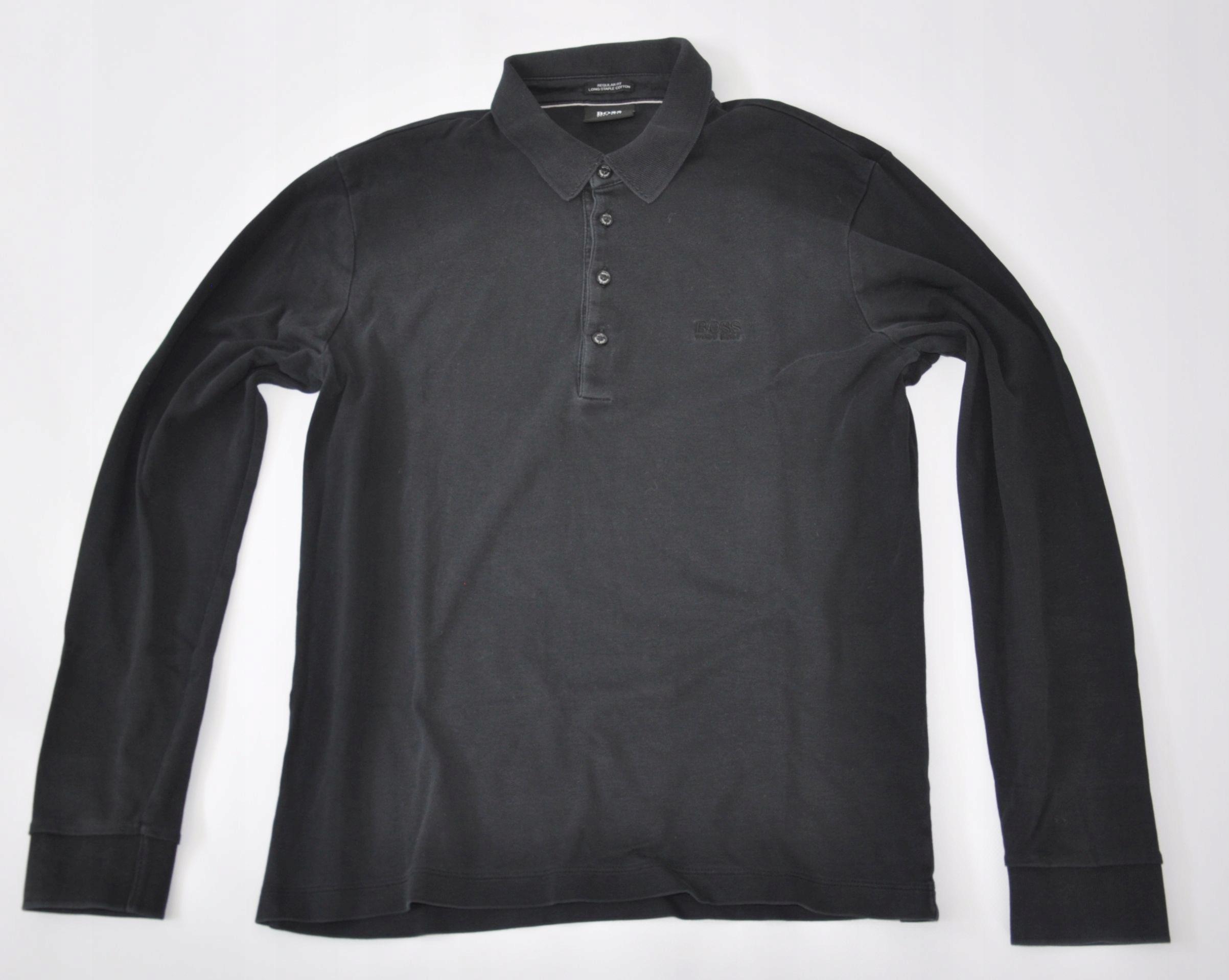 HUGO BOSS koszulka polówka bluzka czarna M
