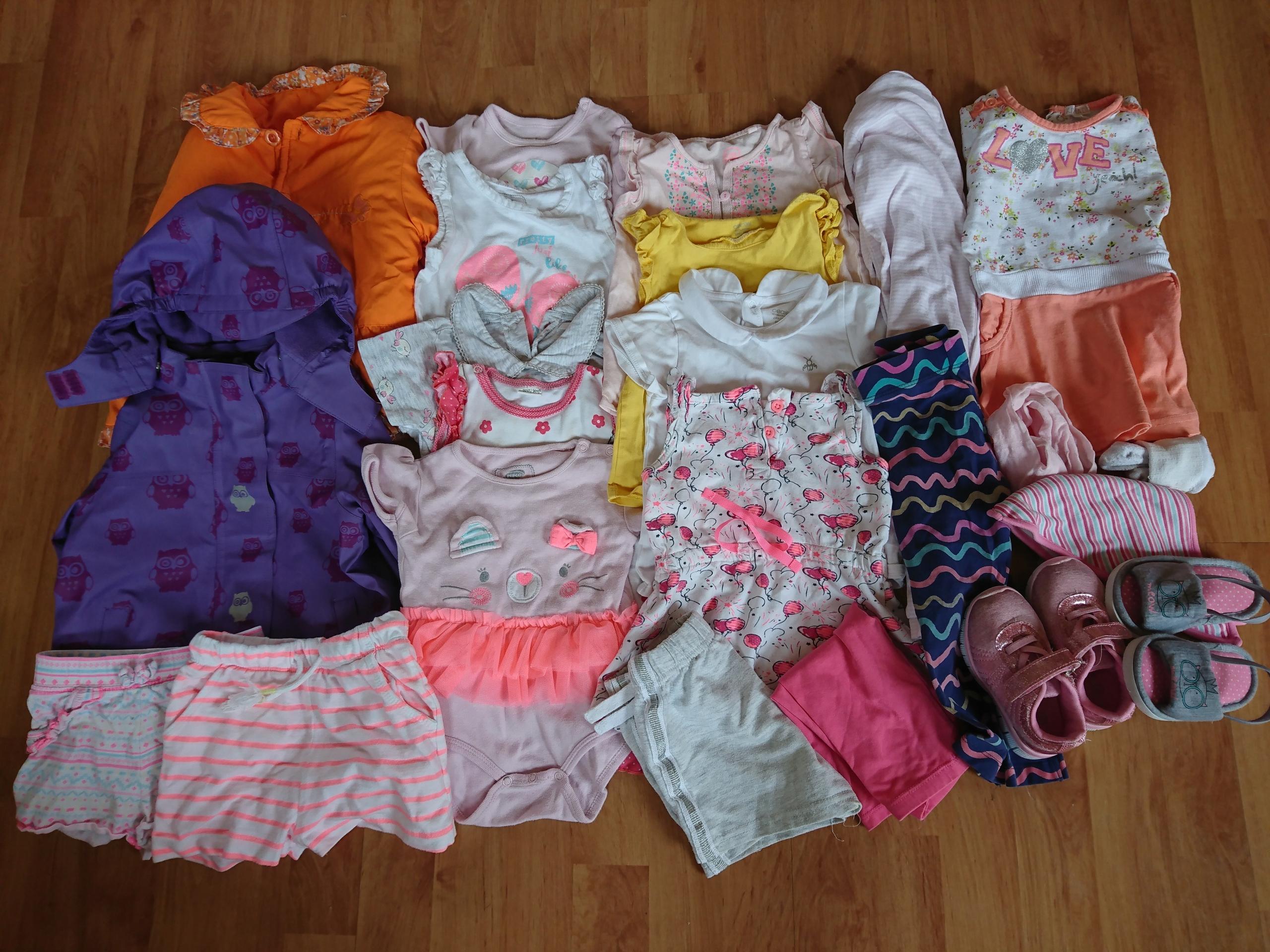 Ubranka dla dziewczynki 86 kurtki, wiosna, lato