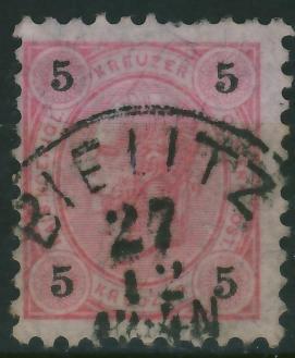 Bielitz 1896 - stempel na zn.austryjackim