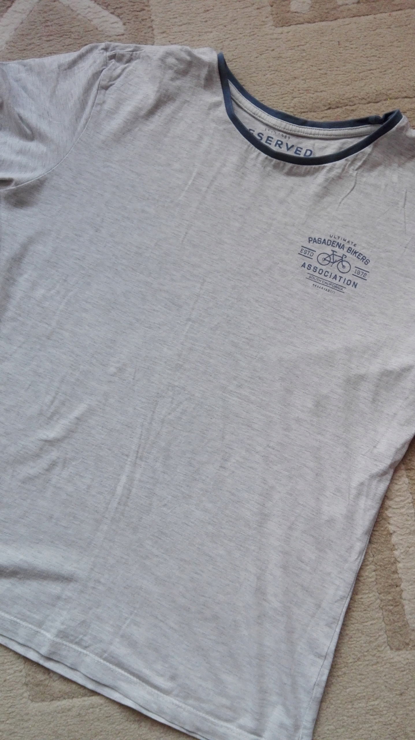 RESERVED T-SHIRT męski S print gratis