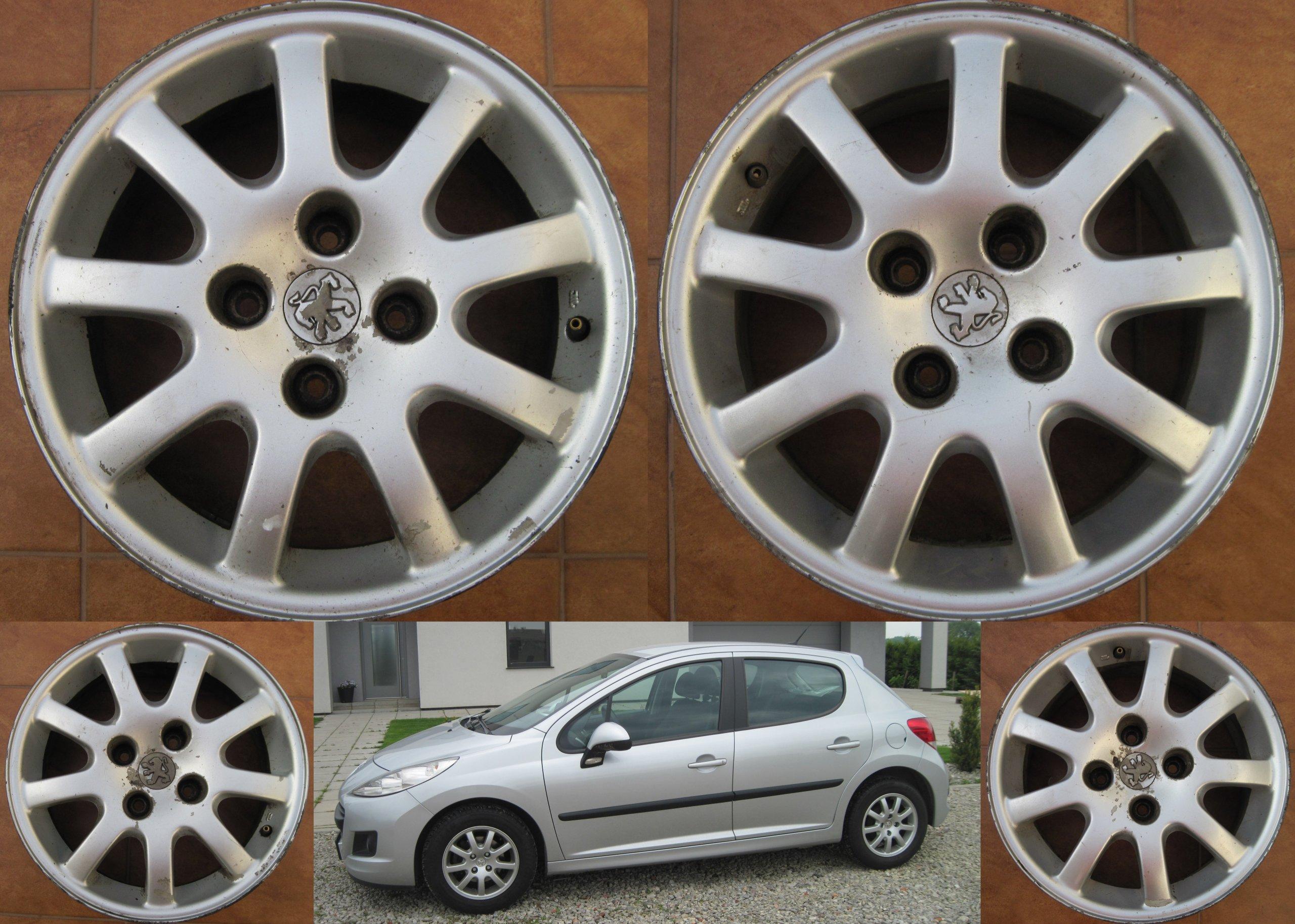 Felgi Aluminiowe Alufelgi Oryg Peugeot 206 207 307 7167882988