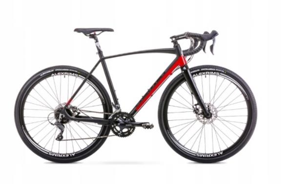 Rower ROMET ASPRE czarno-czerwony 2019 r.52