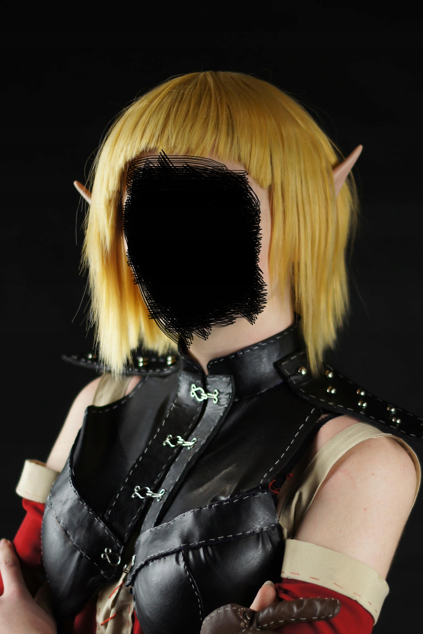 peruka krótka blond żółta wig cosplay kostium bob