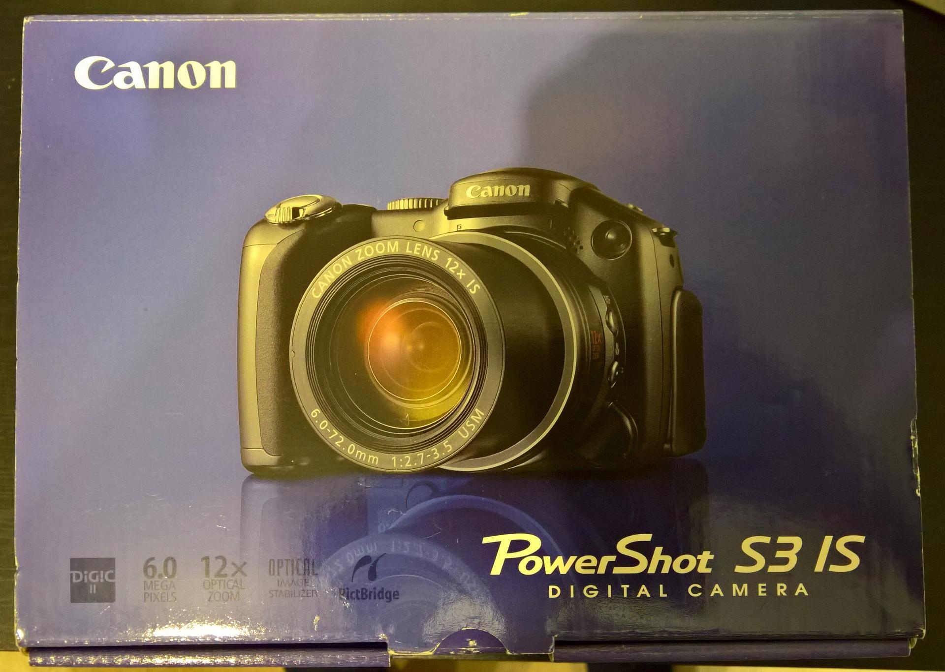 Pudełko do aparatu Canon PowerShot S3 IS