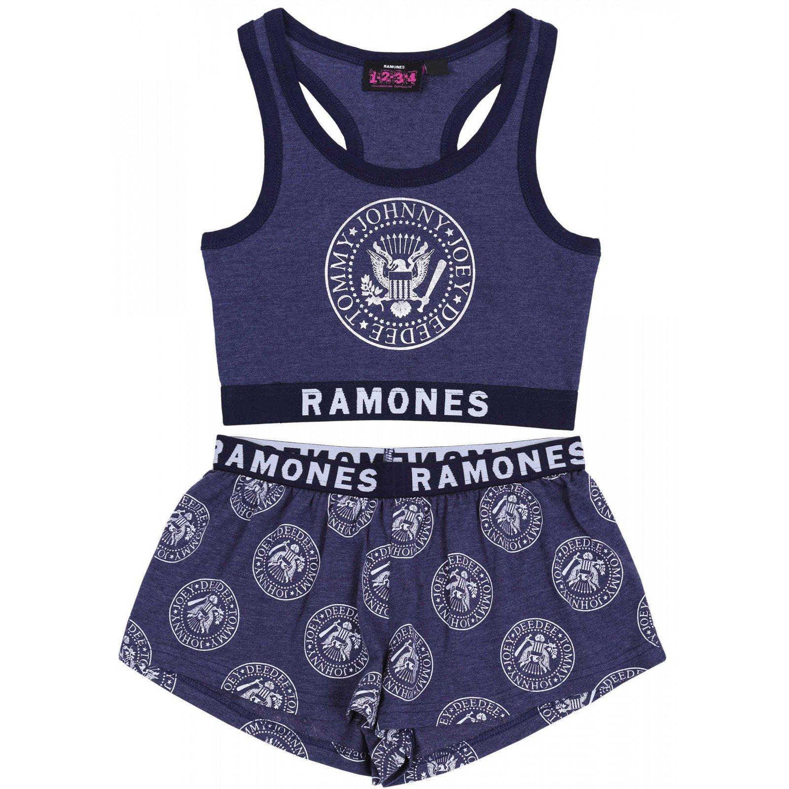 Granatowa piżama RAMONES 42-44