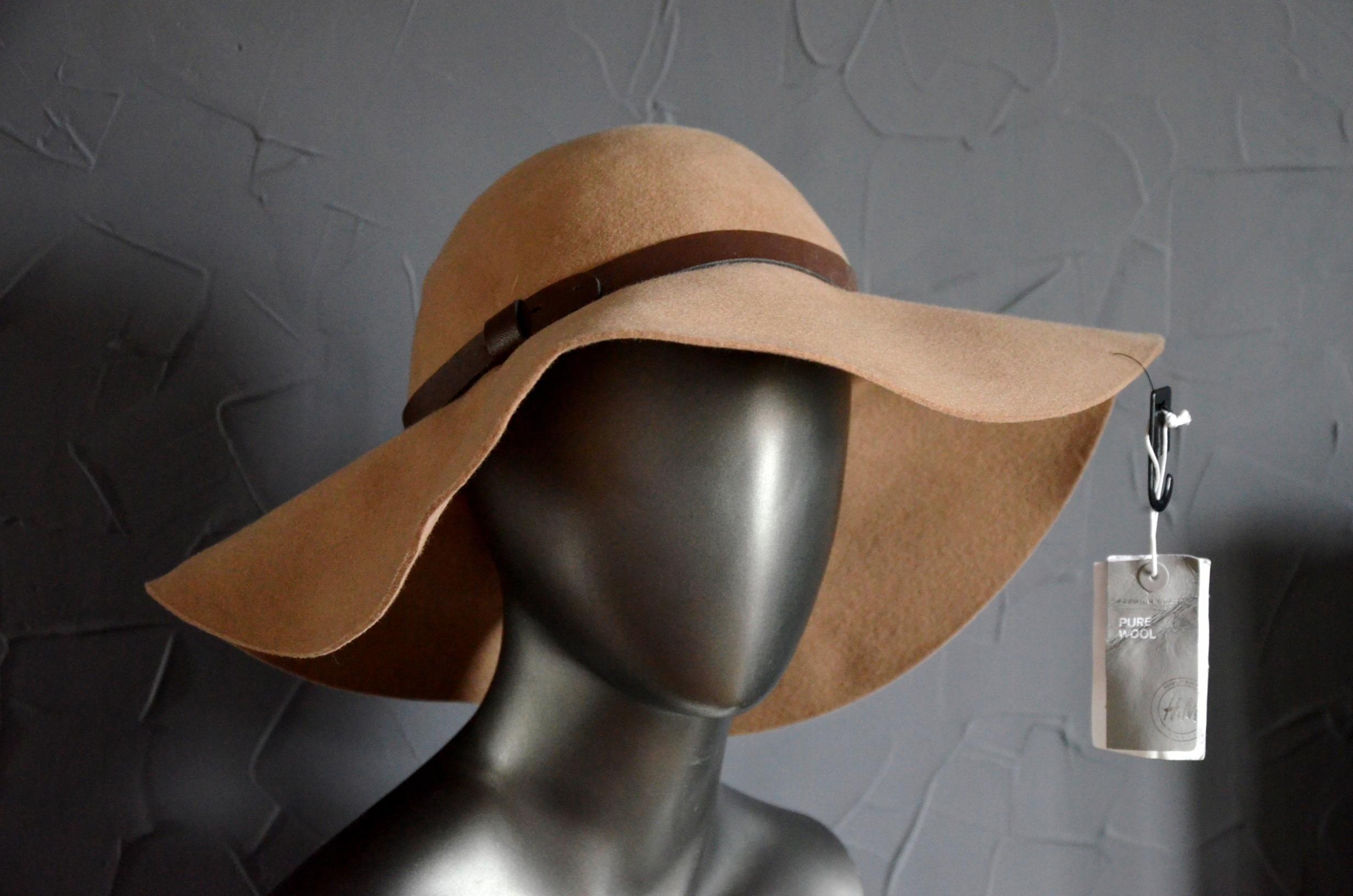 H&M kapelusz wełniany 100% wool karmel NOWY M