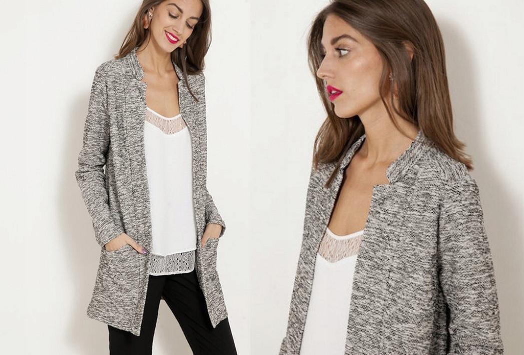 f804567959b596 CAMAIEU kardigan narzutka sweter żakiet rozmiary - 7578667046 ...