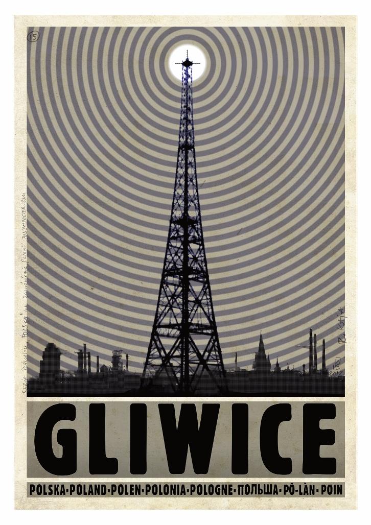 Plakat Polska Radiostacja Gliwice Ryszard Kaja 7167043203