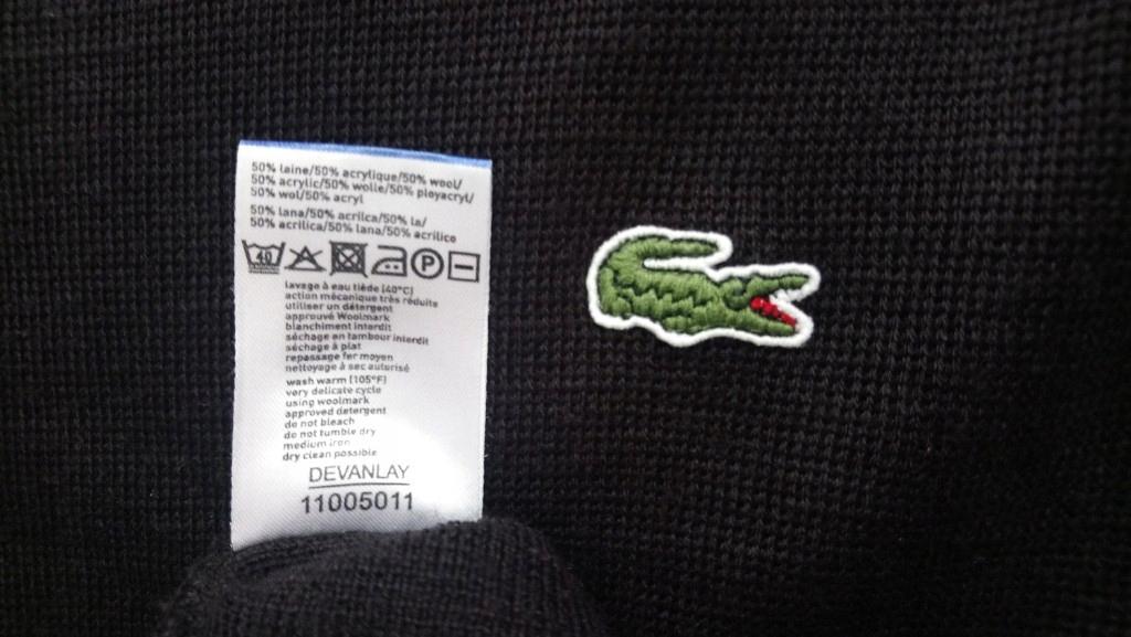 LACOSTE DEVANLAY Sport ORYGINALNY sweter męski BDB