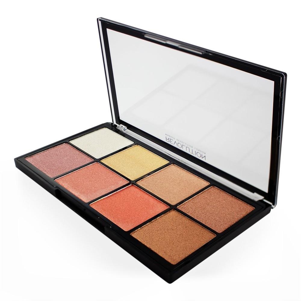 Makeup Revolution Pro Glow 2 paleta rozświetlaczy