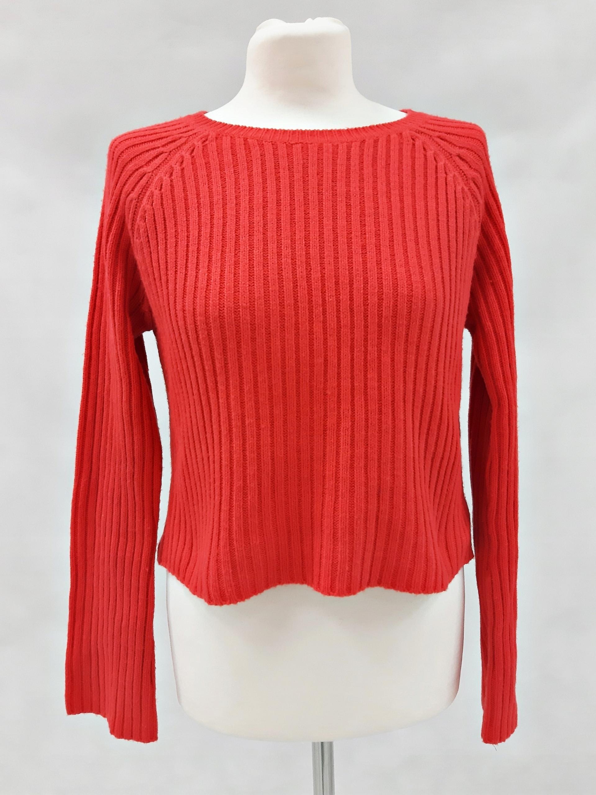 Damski pomarańczowy krótki sweter New Look S1