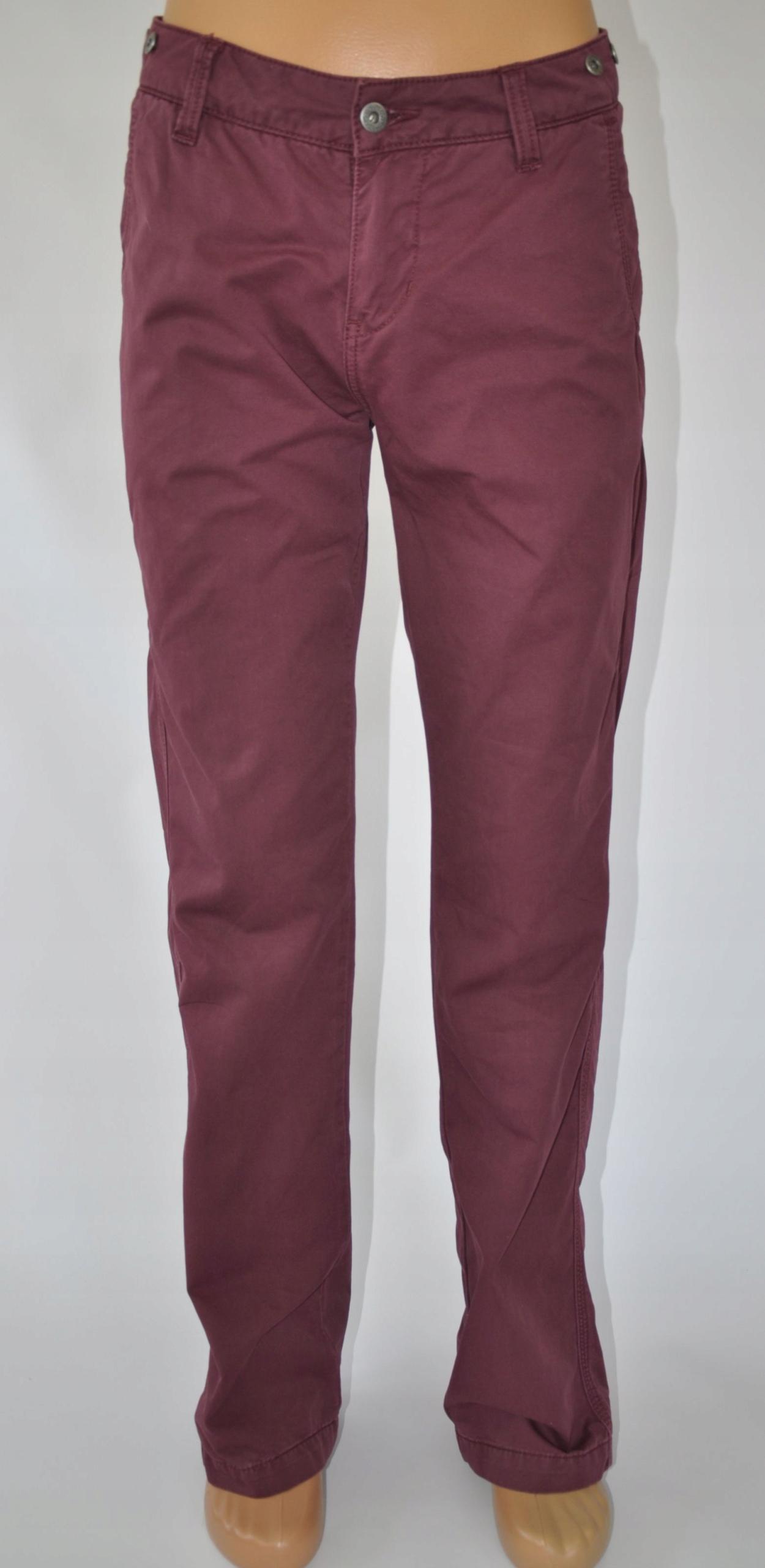 TOMMY HILFIGER DENIM spodnie bordo 28/32 pas 84 cm