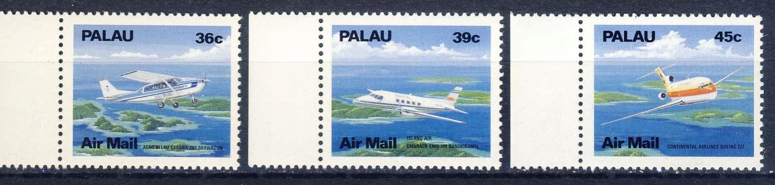 PALAU** Mi 278-80 Lotnictwo, samoloty