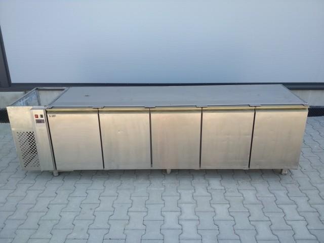 Stół Chłodniczy Podblatowy 5 Drzwi 266x69x76 S-987