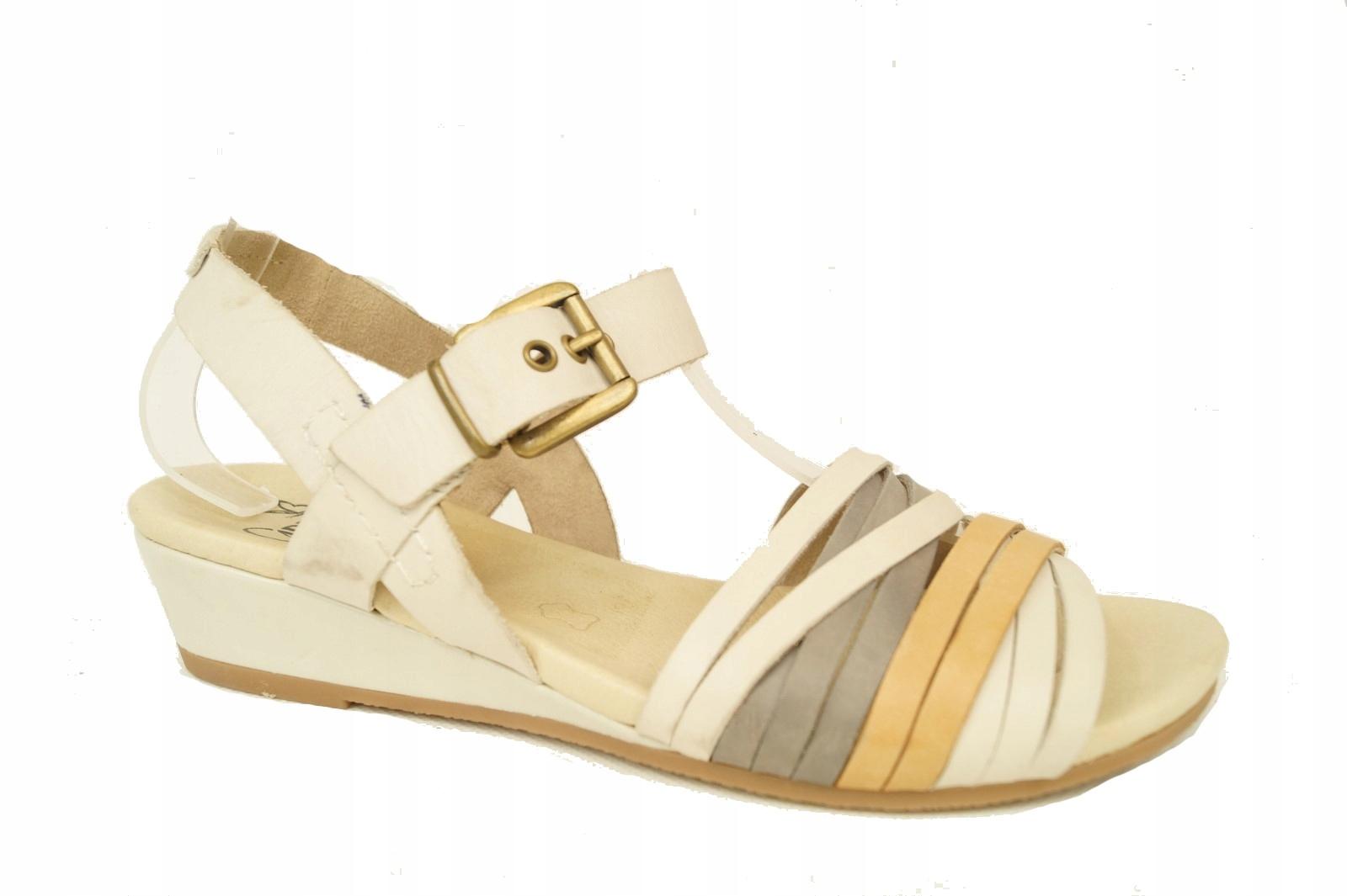 CAPRICE komfortowe sandały SKÓRA 38