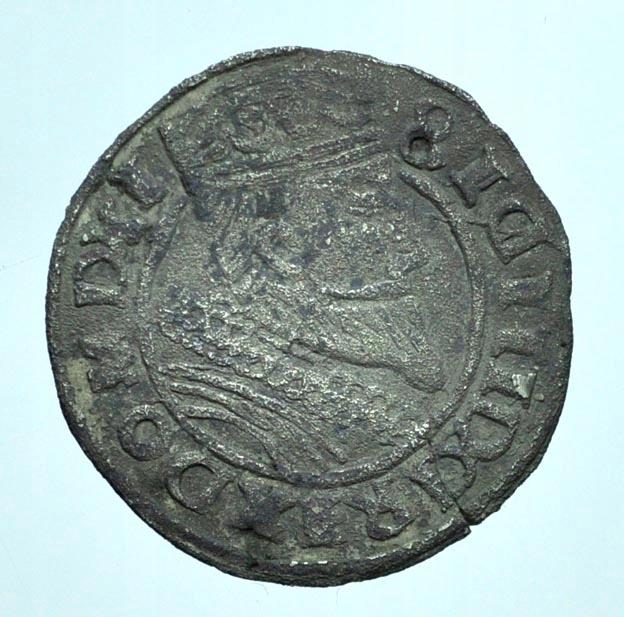 ZYGMUNT III WAZA, GROSZ 1608 - FAŁSZERSTWO MENNICZ