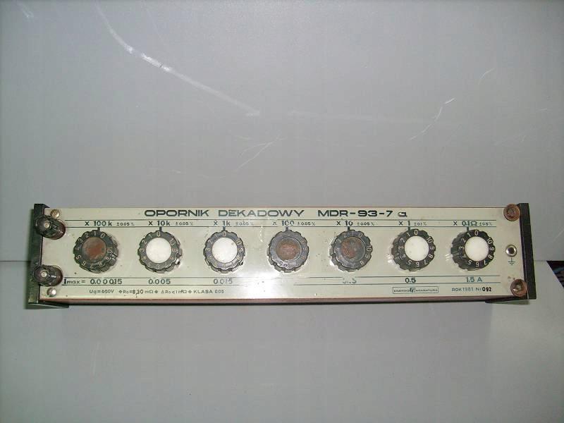 Rezystor-opornik dekadowy MDR-93-7A