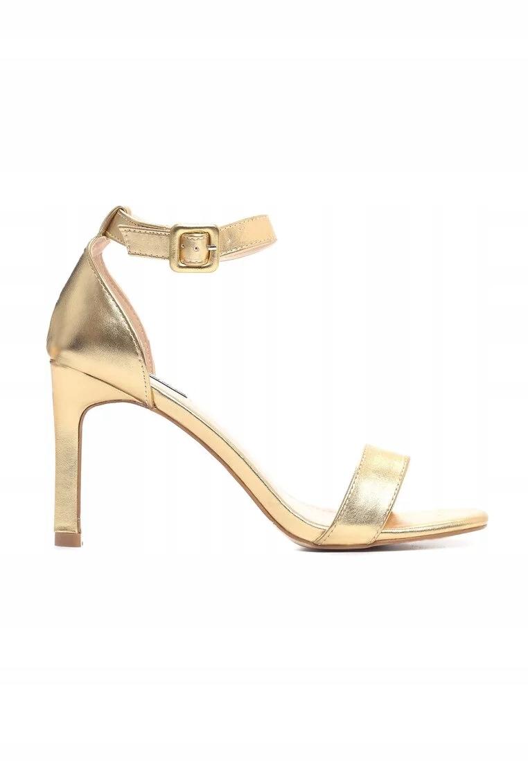 Sandały szpilki czółenka złote vices r38