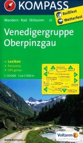 Venedigergruppe Oberpinzgau mapa 1:50 000