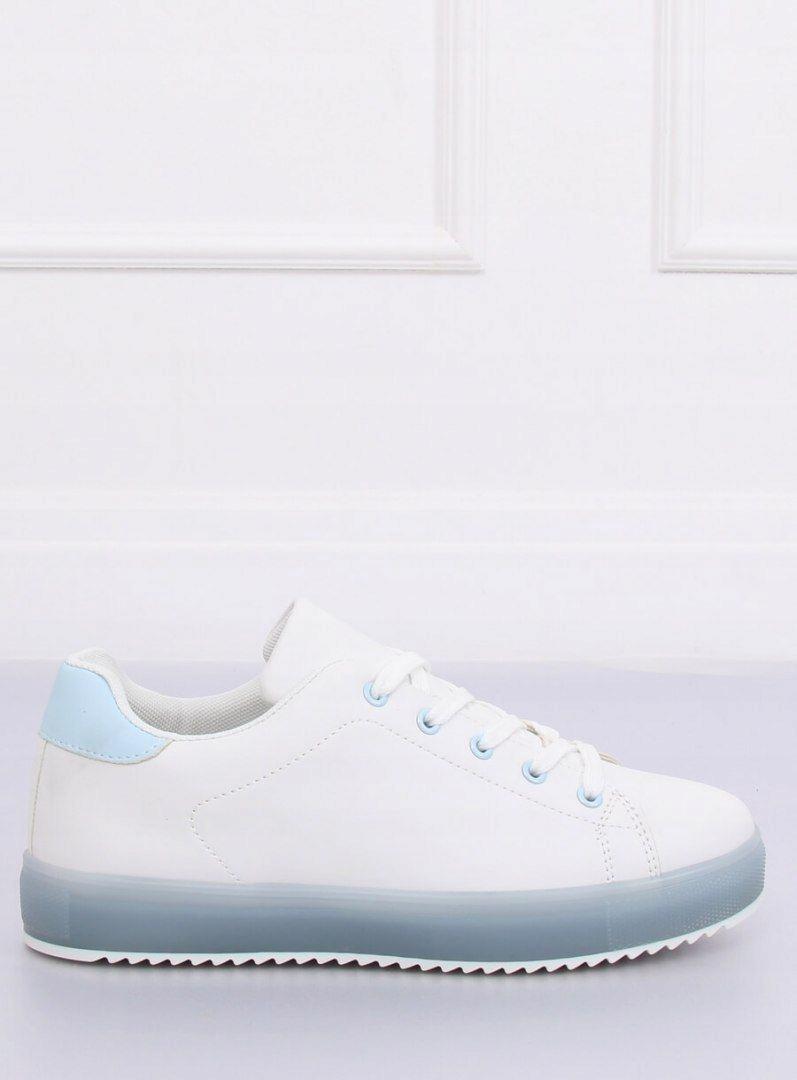 Trampki damskie biało-niebieskie 9118 BLUE 37