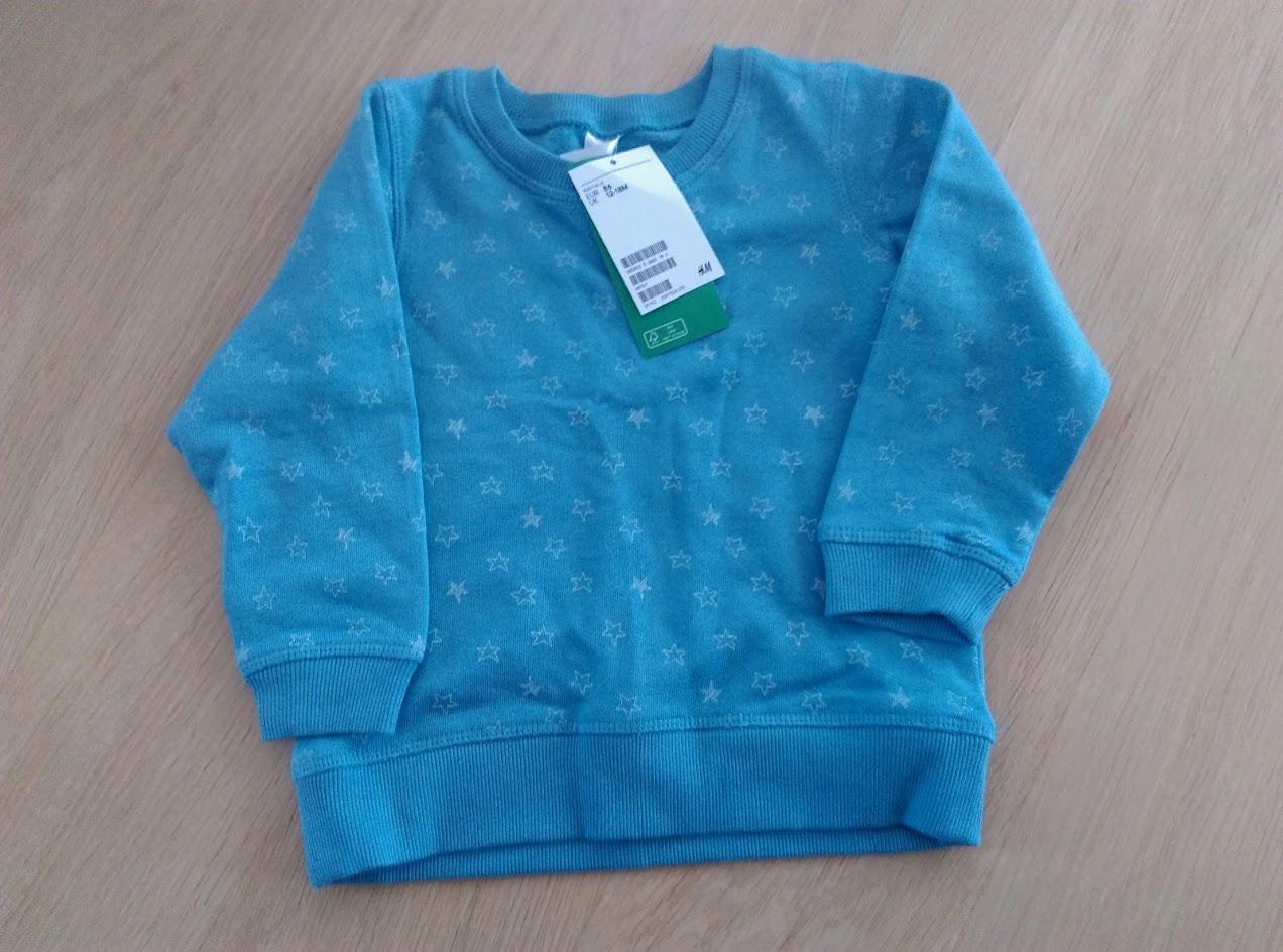 Bluza niebieska H&M 86 cm Basic nowa!