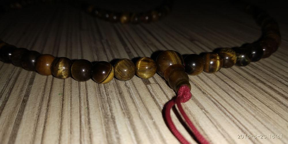 Modlitewna Mala Buddyjska - tygrysie oko