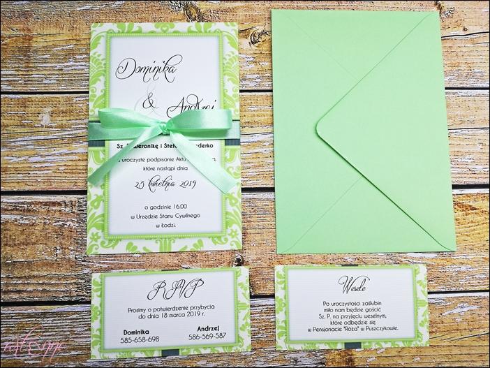 Zaproszenia ślubne Na ślub Greenery Frame 7077596115 Oficjalne