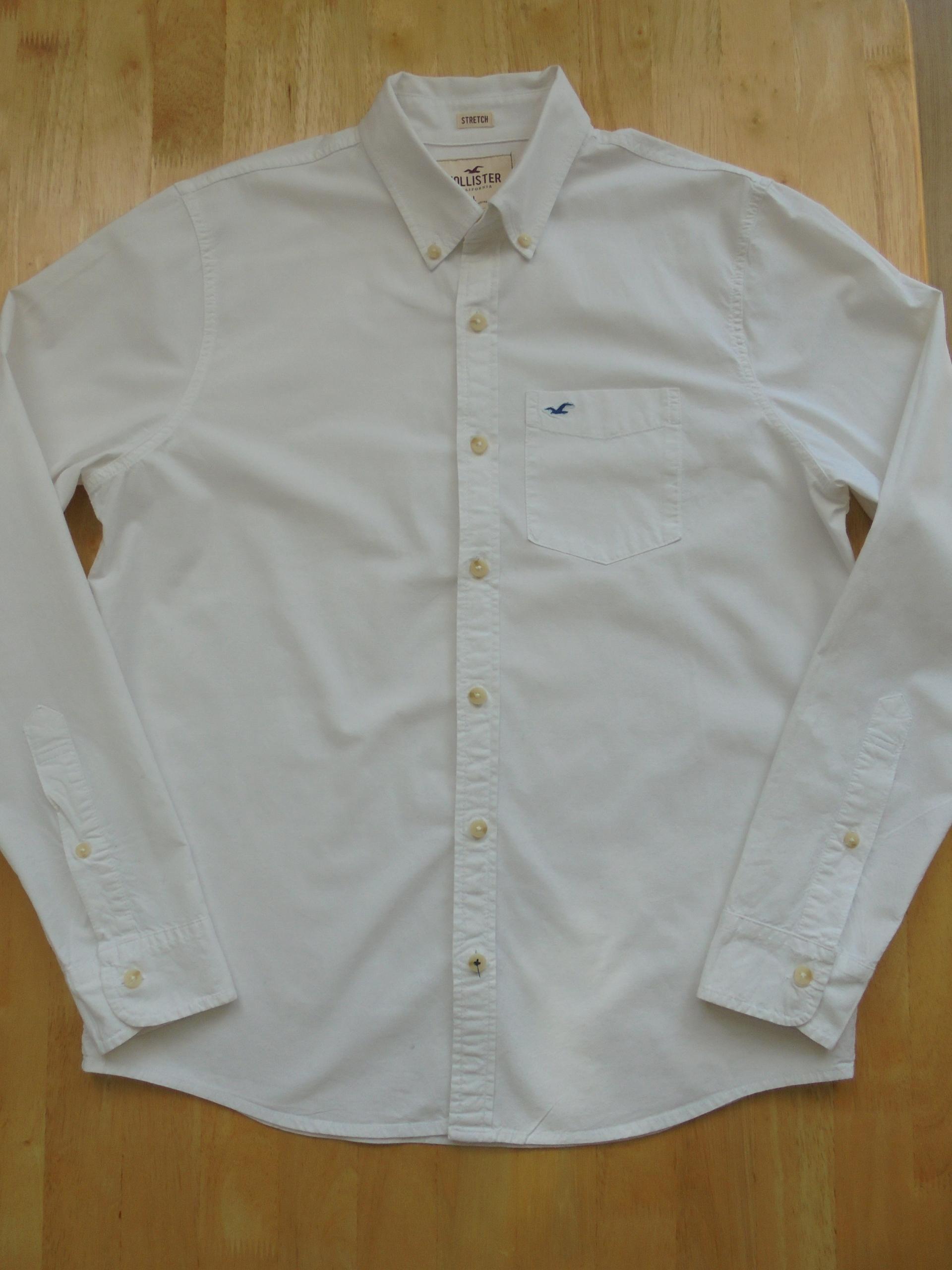 HOLLISTER męska biała koszula slim rozmiar L