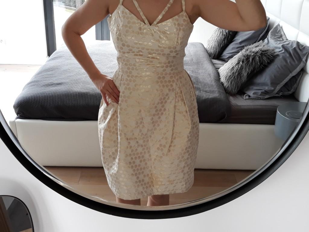 da2d7ab21a elegancka złota sukienka bankietowa - 7258555739 - oficjalne ...