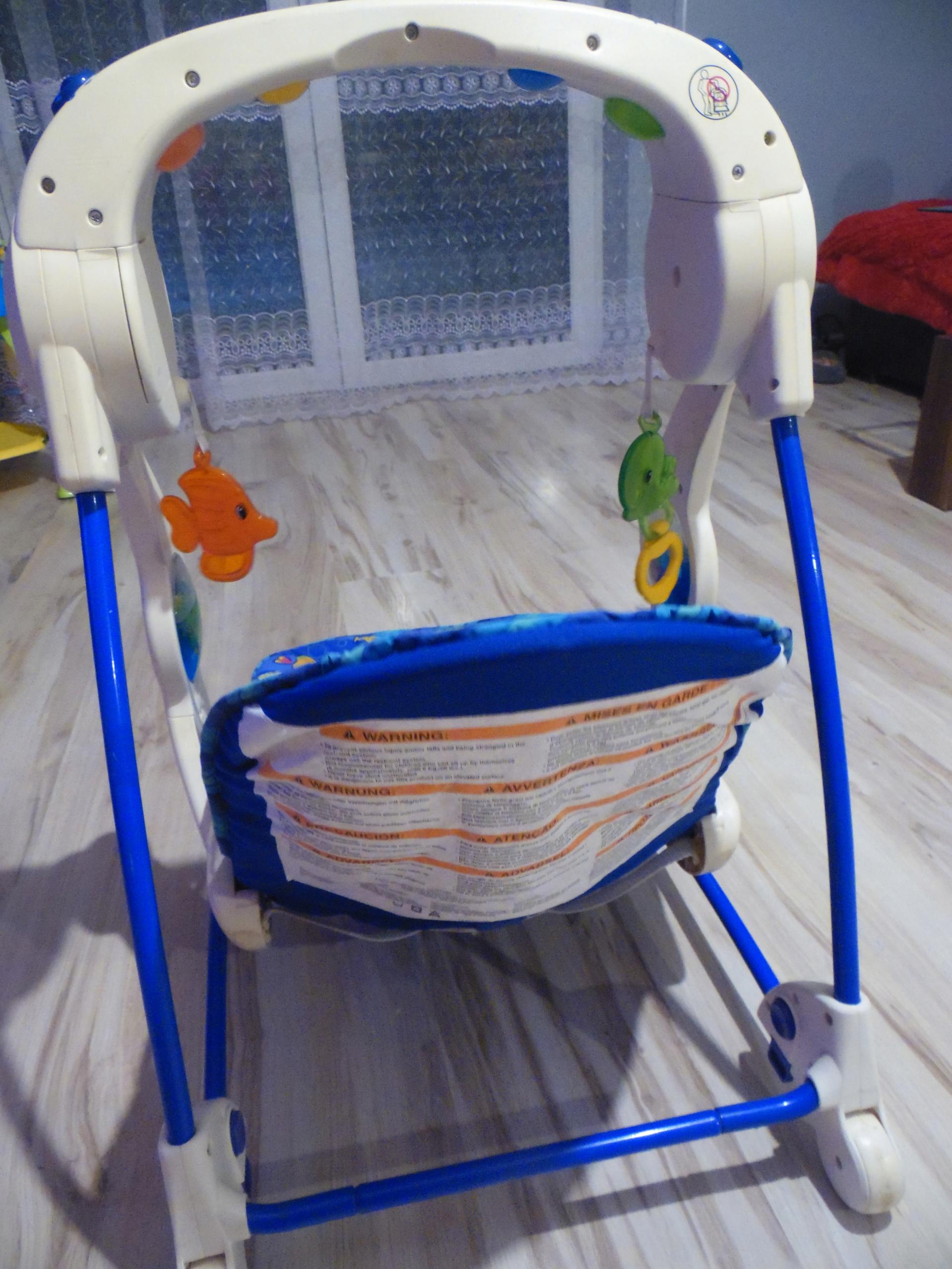 Leżaczek-bujaczek-huśtawka Fisher Price Aquarium