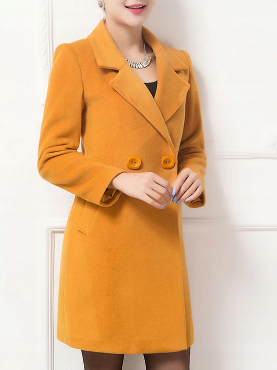 Klasyczny płaszcz w kolorze żółtym !