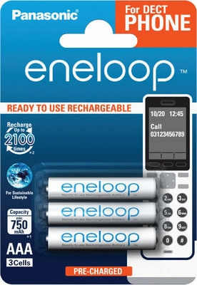 3x Najlepsze akumulatory Panasonic Eneloop R03 AAA