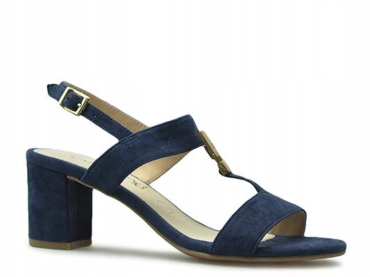 Sandały Caprice 9-28303-22 Granatowe zamsz_39