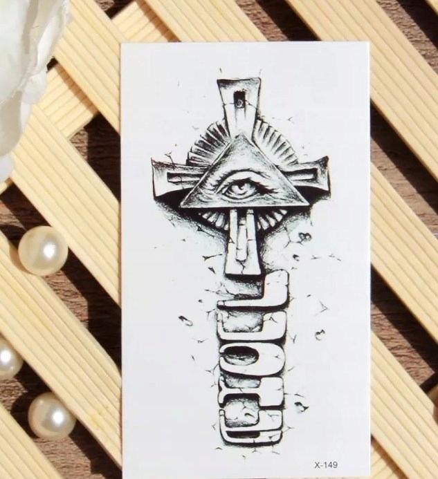 Tatuaż Tymczasowy Oko Opatrzności Krzyż 7882622384